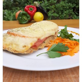 Milanesa napolitana de carne o pollo