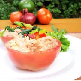 Tomates rellenos de atún (sin cebolla)