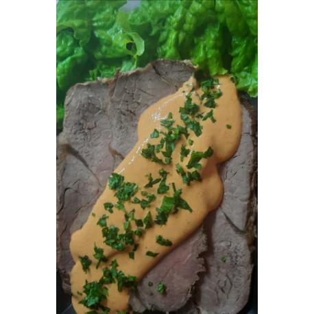 Carne al horno con salsa barbacoa