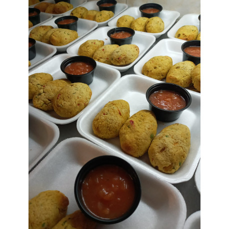 Croquetas de garbanzo c/salsa fileto